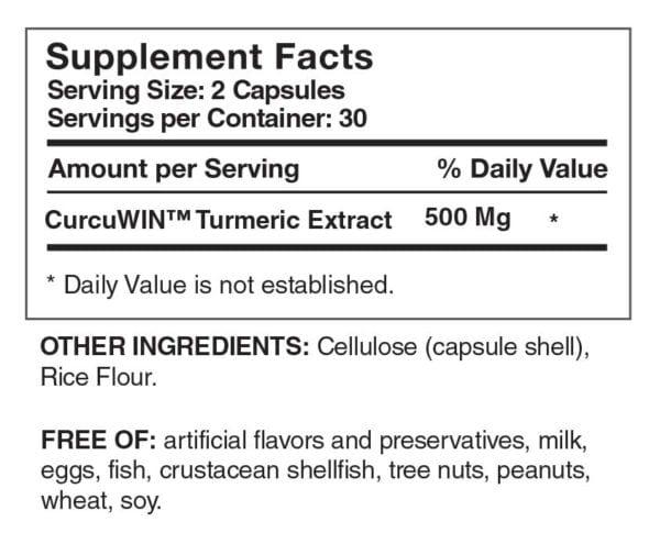 Curcumin-Pure-supplement-facts