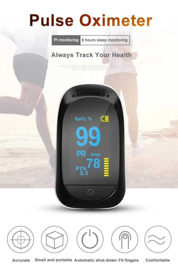 Sleep Wireless Finger pulse Oximeter With Bluetooth