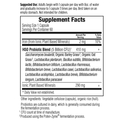 Primal Defense supplement facts