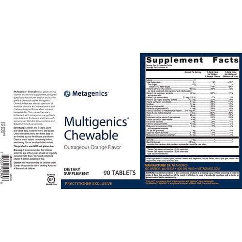 Multigenics®-Chewable-supplement-fact