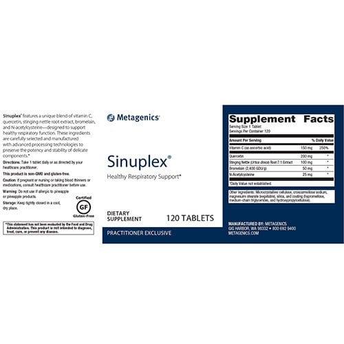 Sinuplex®-supplement-fact