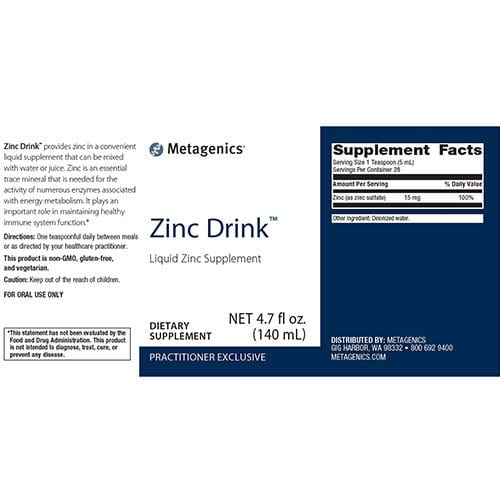 Zinc-Drink™-supplement-fact
