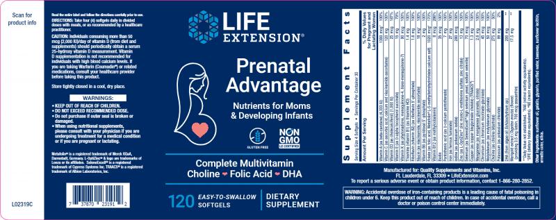 Prenatal Advantage 120 Softgels