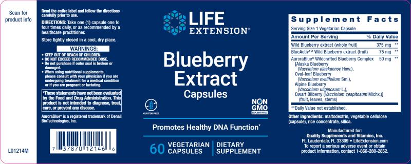Blueberry Extract 60 vegcaps
